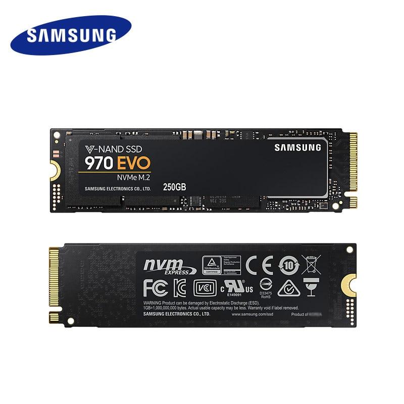 Samsung 970 M.2 EVO SSD 1TB 500GB NVMe 2280 NVMe Interne SSD Solid State Festplatte SSD PCIe 3,0X4, NVMe 1,3 Laptop