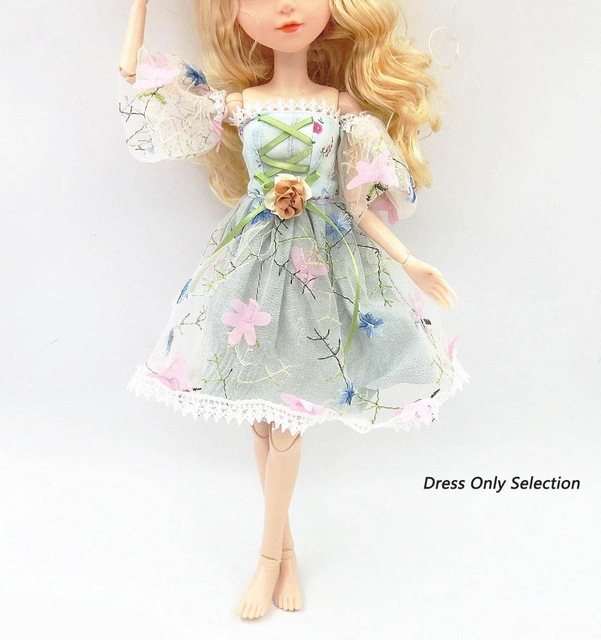 42cm 45cm 48cm Beautiful Doll's Dress for 42 cm <font><b>Bjd</b></font> Doll <font><b>Clothes</b></font> Kids Toy Accessories Birthday Gift Doll Fashion Design <font><b>Clothes</b></font> image