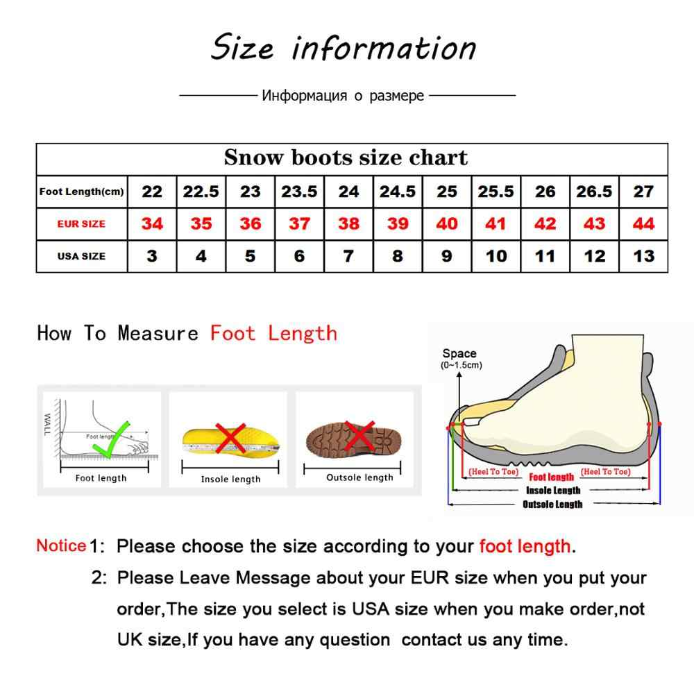 MBR Lực Thời Trang Nữ Ấm Áp Ủng Mùa Đông Giày Chính Hãng Da Bò Nữ Cao Đến Mắt Cá Chân Giày Lông Giày Size 34-44