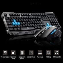 Elisona Gamer 2,4G Беспроводная клавиатура, мышь, набор игровых клавиш, настольная клавиатура, компьютер Overwatch Lol Csgo Dota Game
