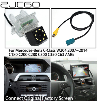 ZJCGO HD Car Rear View Reverse Back Up Parking Camera Upgrade for Mercedes Benz MB C Class W204 C180 C200 C280 C300 C350 C63 AMG