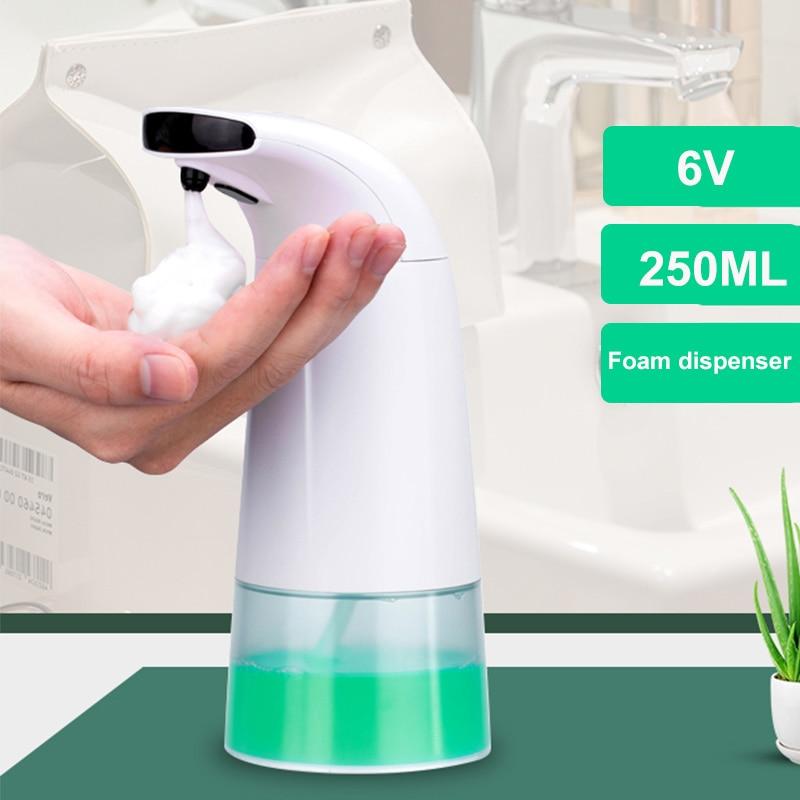 H35827fc1e0644d568746c6cc272c5feao 250ml Waterproof Foam Liquid Dispenser Automatic Soap Dispenser Sensor Touchless Hand Washer Soap Dispenser Pump