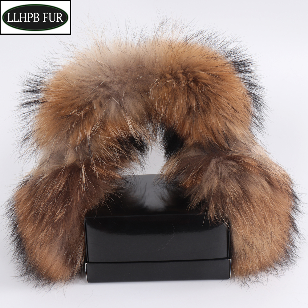 2020 New Fashion Women 100% Natural Real Fox Fur Earmuffs Plush Winter Warm Big Fox Fur Ear Muffs Girls Luxury Fox Fur Earmuff