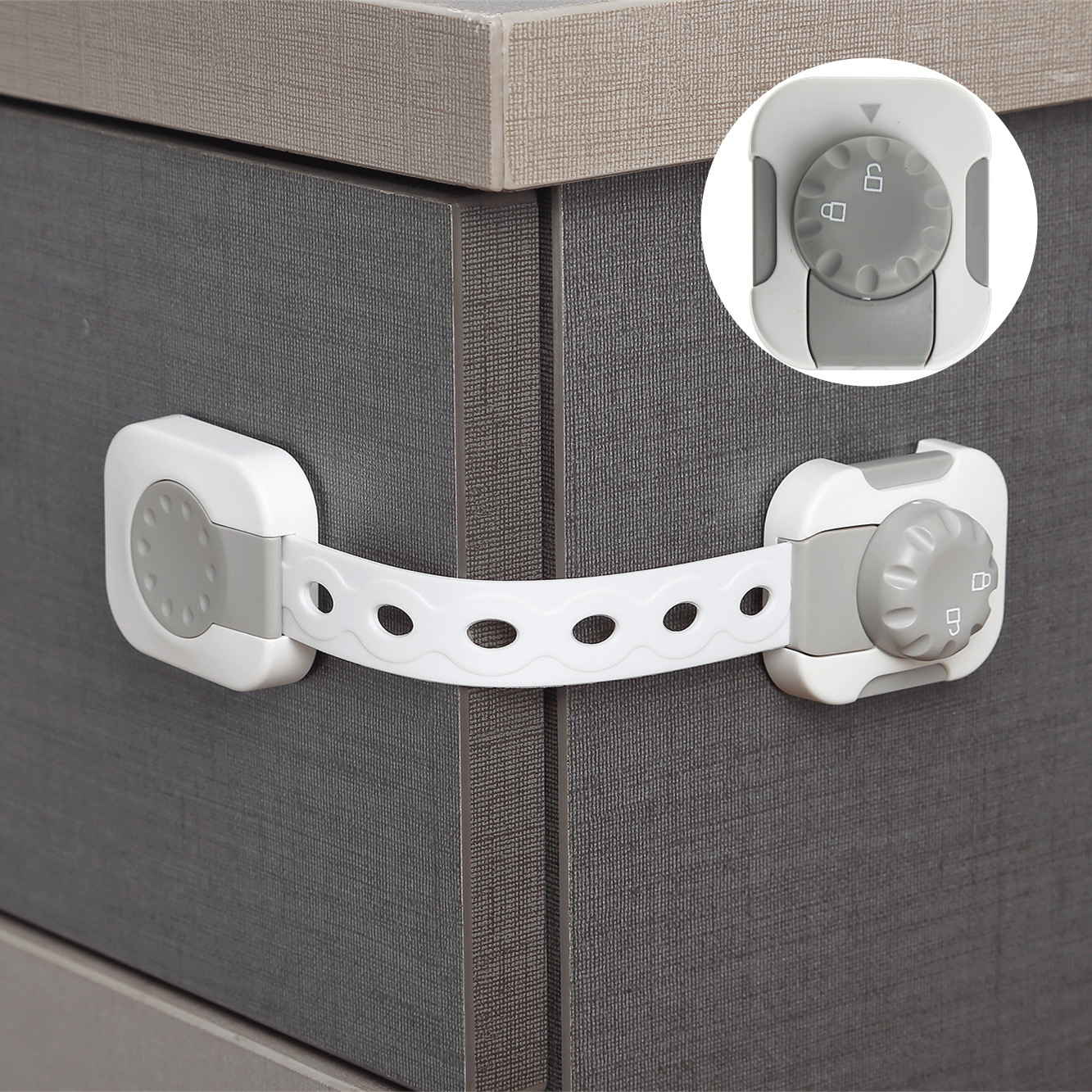 Child Safety Locks  No Tools Or Drilling Adjustable Size Flexible Adhesive Furniture Latches For Baby Proofing Cabinets