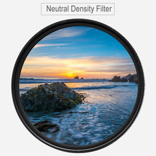 Nd4 nd8 nd16 densidade neutra nd 0.9 filtro (3-stop) para canon nikon 37mm 43mm 46mm 40.5mm 49mm 52mm 55mm 58mm 62mm 67mm 72 77 82