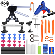 PDR Tools Dent Removal Tools Paintless Dent Repair Tools Kit with Auto Trim Tools Dent Puller Pops a Bridge Puller PDR Lifter цена 2017