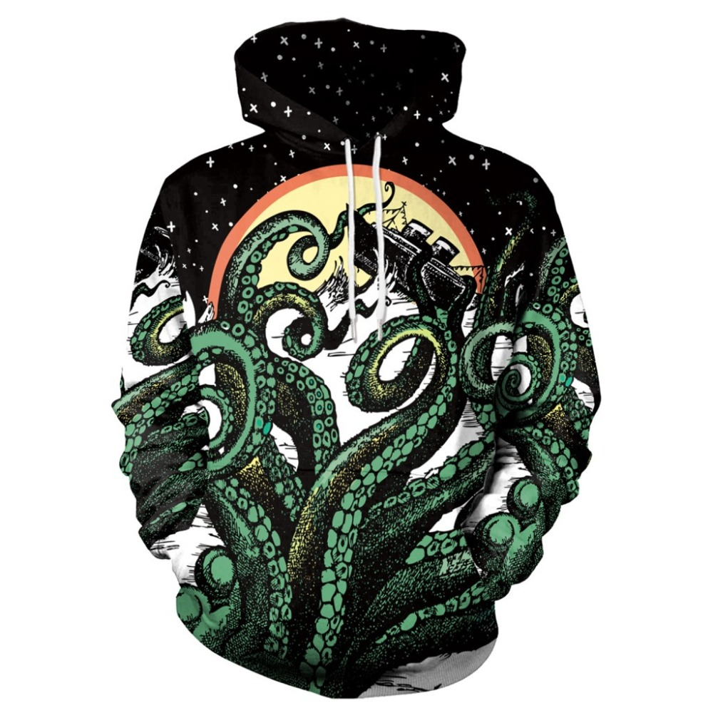 Anime mar profundo overlord grande polvo impressão digital solto camisola 3d impressão digital camisola cosplay traje anime unisex