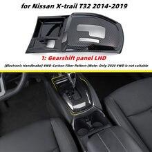 Panel de Control central para Nissan x-trail T32 X trail Rogue Xtrail 2014-2020, pegatinas de ABS, cubierta, Panel de Cambio, soporte para vaso