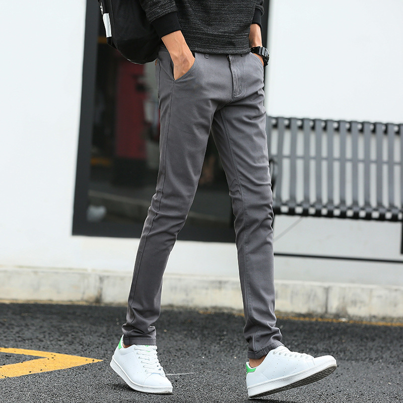 MRMT 2020 Brand Spring New Casual Men's Trousers Stretch  Fashion Pants For Male Skinny Small Feet Trousers