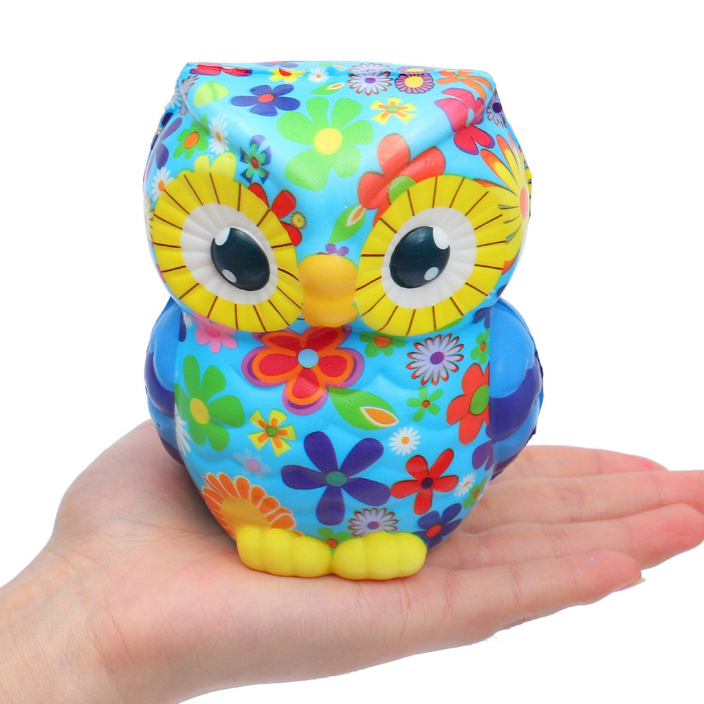 Slow Rebound Pu Foam Owl Creative Decompression Toy Funny Student Gift Antistress Decompression Toy Gift #A