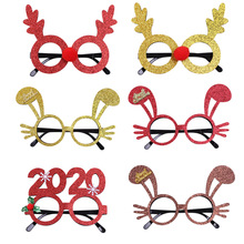 ZOTOONE 1PC Christmas Decorations Adult Childrens Toys Antlers Rabbit Frame Glasses DIY Party Decoration G