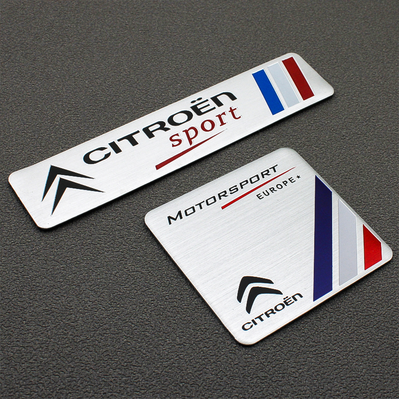 1PCS 3D Car Stickers Car Styling Badge Emblem Tail Decal For Citroen C4 C1 C2 C8 C5 C3 C6 DS5LS C-ELYSEE VTS Car Accessories