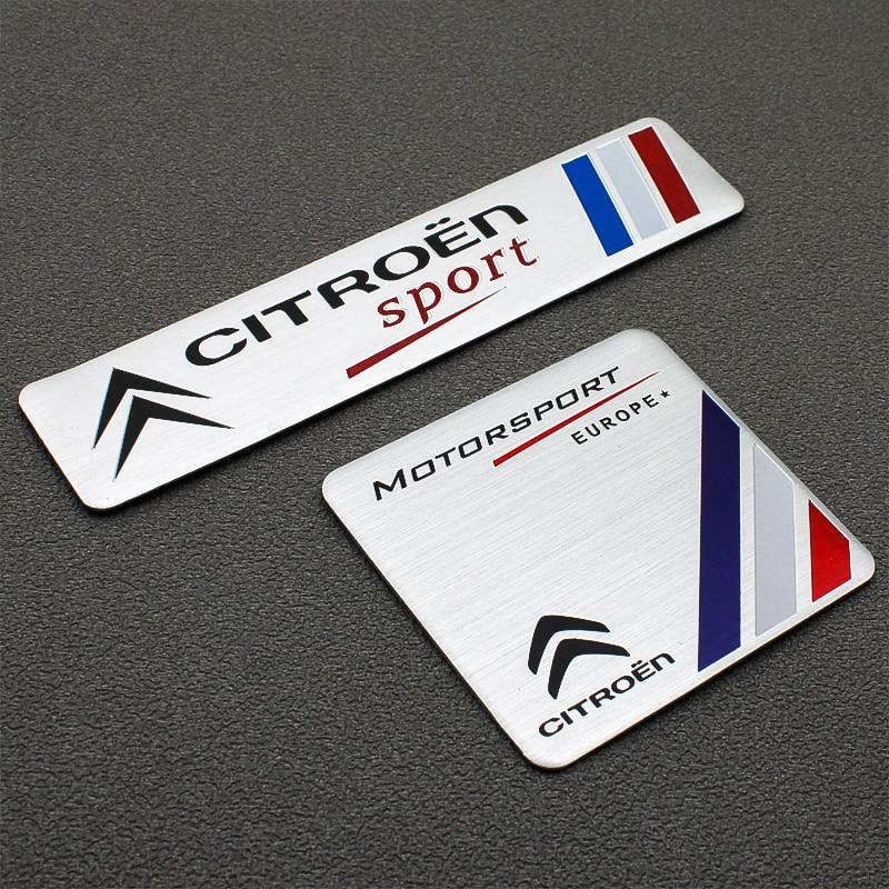 1PCS 3D Car Stickers Car Styling Badge Emblem Tail Decal For Citroen C4 C1 C2 C8 C5 C3 C6 DS5LS C-ELYSEE VTS Car Accessories