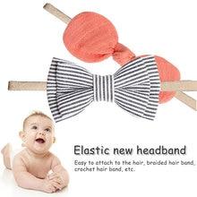 1pcs Cute Bow Baby Headband for Girl Nylon Head Bands Turban Newborn Headbands Hairbands for Kids Baby Hair Accessories