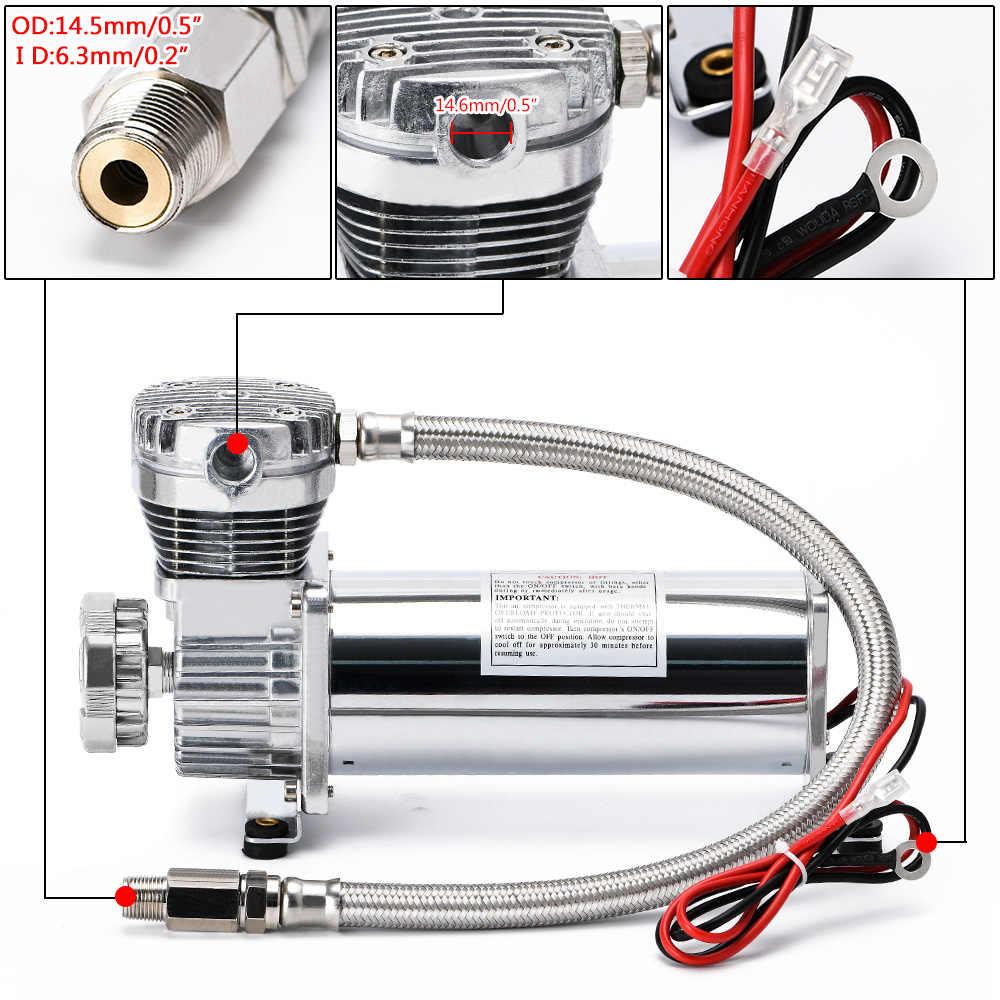 Bomba de aire el/éctrica ZLJUN bomba de alta presi/ón 20PSI 12V DC con funci/ón inteligente de apagado autom/ático de doble etapa