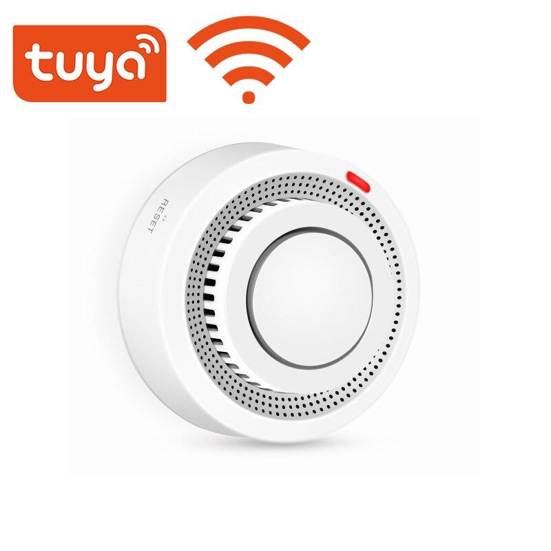 Wi-Fi дымовая сигнализация, противопожарный детектор дыма, домашняя система безопасности, пожарные устройства без батареи, управление через ...