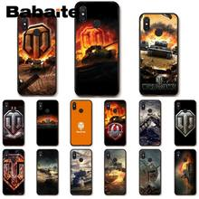 world of tanks TPU black Soft Silicone Phone Case Cover For xiaomi mi 8se 6 mi8lite note2 note3 mi9se max2 max3 cover(China)