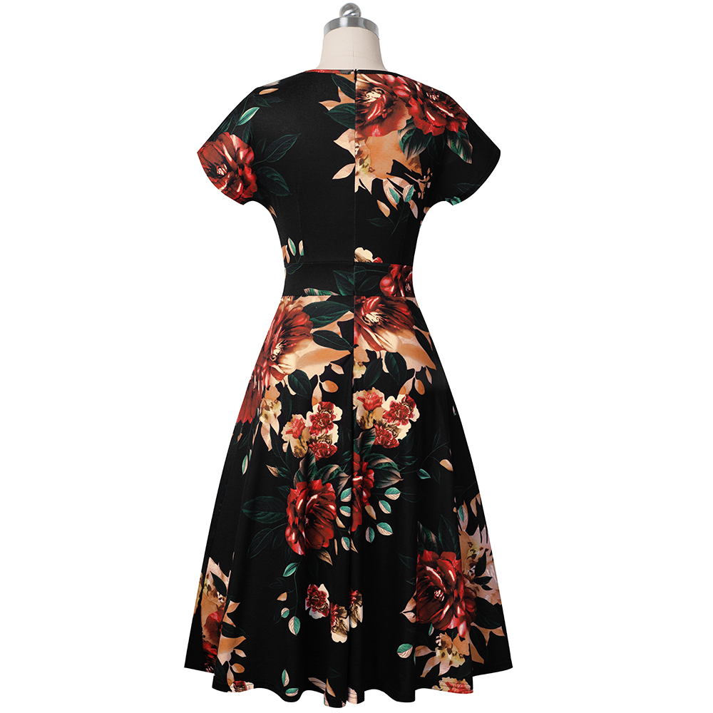 Women's Sleeveless Cocktail A-Line Embroidery Party Summer Wedding Guest Dress 2