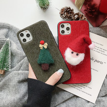 For HUAWEI honor8X honor9I honor9X honor10 honor 20 honor 8X 9I 9X 10 20 phone Mink air elk Christmas gift snowman Bell cover(China)