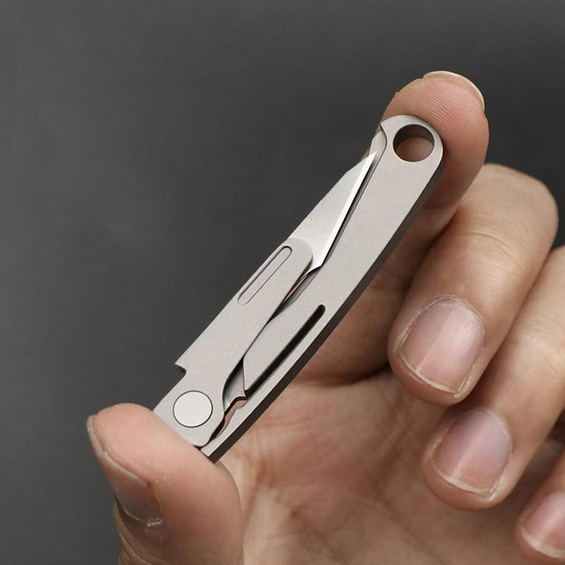 Mack Walker Portable Keychain Key Unpacking Utility Knife EDC Emergency Medical Knife Mini Titanium Alloy Folding Knife(China)