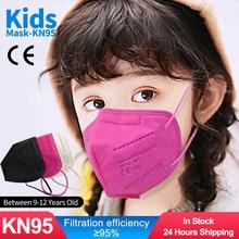 KN95 Kid Ffp2 Mask FILTERING-MASK Adaptable Protective Safety 10-100pcs Children Earloop