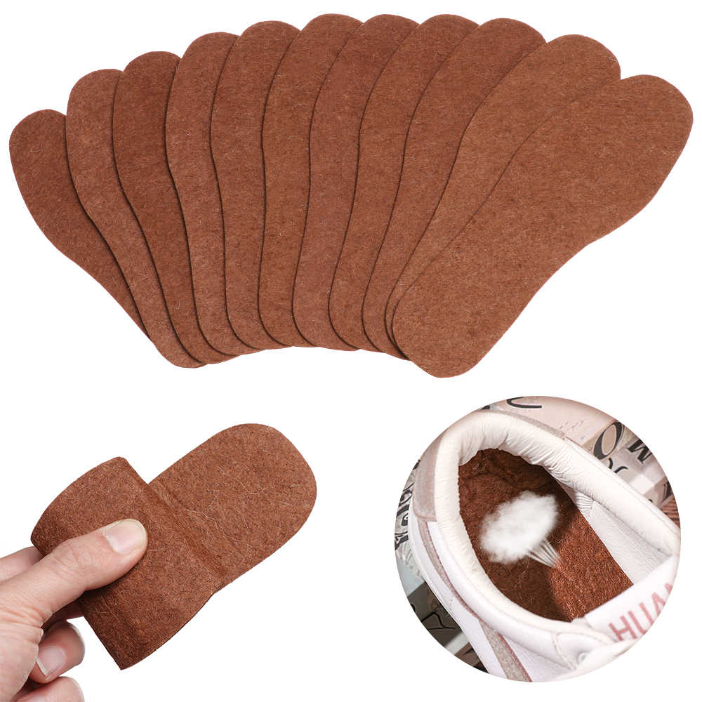 Insoles Winter Warm Cashmere Pad Woollen Shoes Pads Wool Thicken Plush Insoles