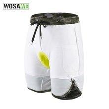 Wosawe Мужские велосипедные шорты с гелевой подушкой дышащие