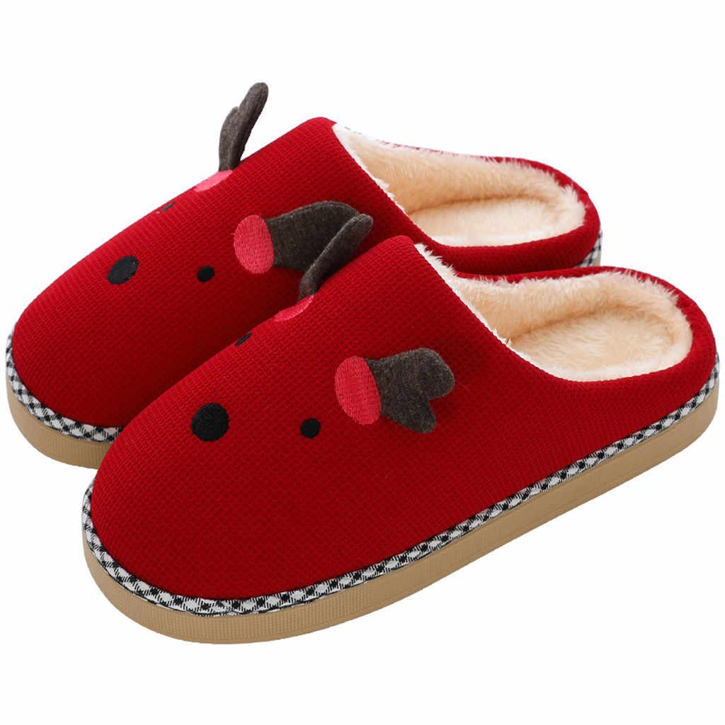 Las mujeres es linda y cálida caricatura de algodón suave de peluche de felpa zapatillas de interior al aire libre zapatos de mujer zapatos тапочки домашние женские zapatos de mujer