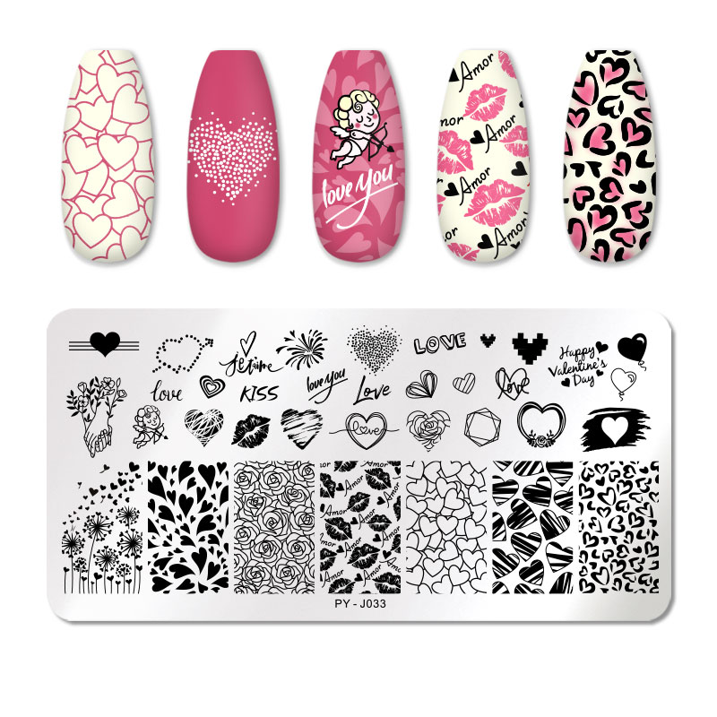 PICT YOU 12*6cm Nail Art Templates Stamping Plate Design Flower Animal Glass Temperature Lace Stamp Templates Plates Image 5