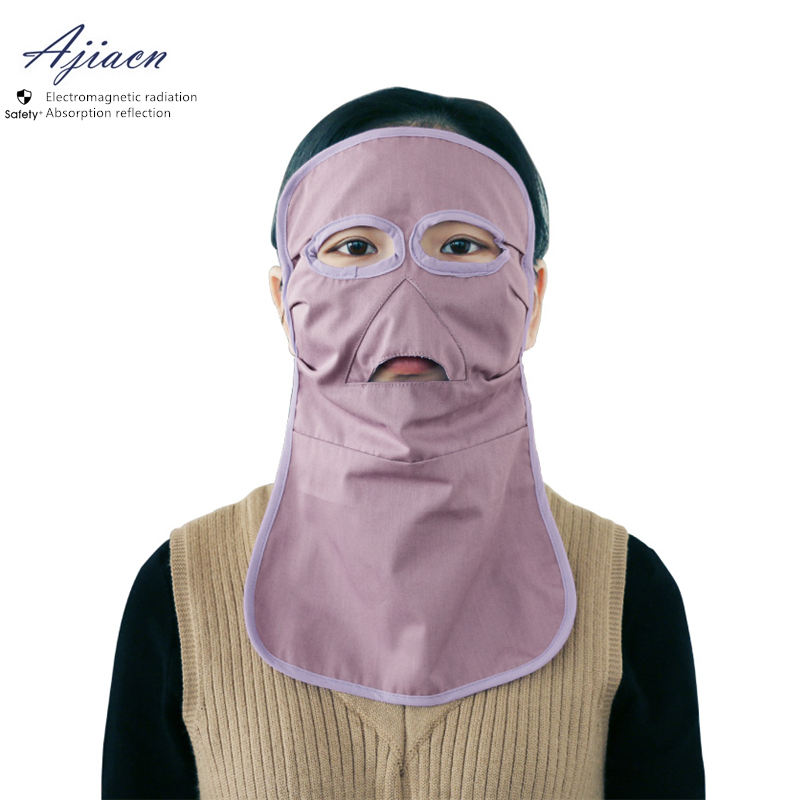 Ajiacn Genuine Electromagnetic Radiation Protective Long Face Mask Protect Face And Thyroid EMF Shielding Anti-radiation Mask