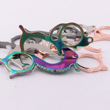 Puller Dog-Door-Opener Hygenic-Button Pusher Smooth-Keychain Contactless Cat Seahorse
