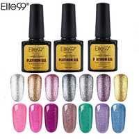 Elite99 Nail art 10ml Bling Schimmer Platin UV Gel Super Diamant Neon Nagel Gel Glänzende Glitter Pailletten Sternen Platin farbe Gel