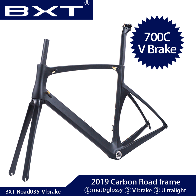 BXT New Carbon Bike Frame Ultralight Carbon Road Frame 700C X 25C Full Carbon Road Frame Di2 Bicycle Frameset Fork Seatpost