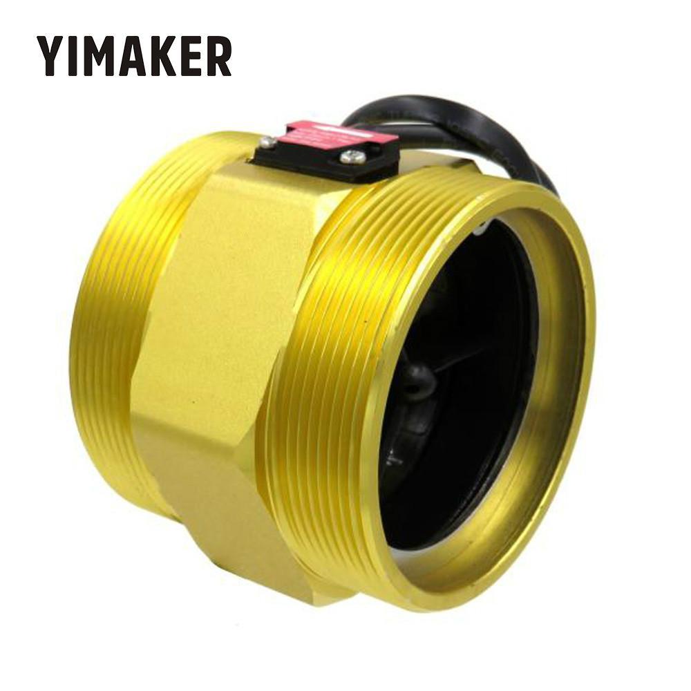 YIMAKER  3 Inch Flow Sensor Turbine Flow Meter  Counter Hall Sensor Meter