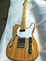 Top quality FDTL 2005 Original color solid Ash body F hollow rosewood fretboard TL electric guitar, Free shipping
