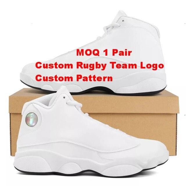 Buena calidad de la Polinesia Samoa Tribal naranja Tonga estilo zapatos de bola Logo de equipo deportivo de Baloncesto de los hombres zapatos deportivos 6