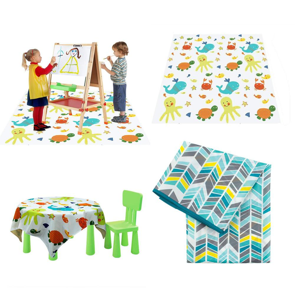 Children Highchair Floor Mat Boys Girls Baby Play Pad Park Picnic Mat Waterproof Non-Slip Washable Anti-dirty Table Cloth