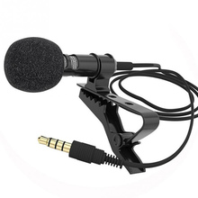 1.45m 3.5mm Mini Portable Microphone Condenser Clip-on Lapel Lavalier Mic Wired Mikrofo/Microfon Universal for Phone for Laptop