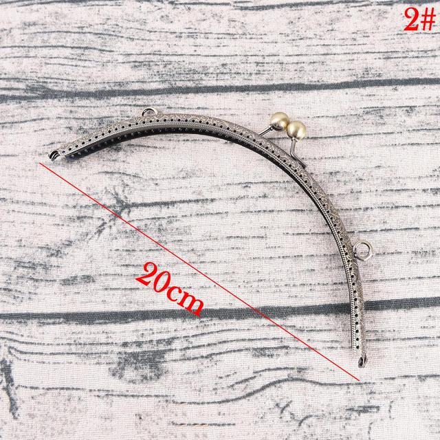 20cm DIY Antique Brass Metal Purse Frame Ring Kiss Clasp Handle For Bag Craft Bag Making Sew Handbag Accessories