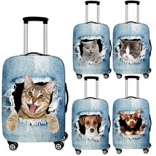 Print Covers Trolley Case Travel Cute for Elastic Anti-Dust Cat/dog-In-The-Hole