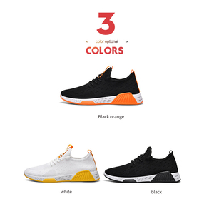 Image 2 - Men Shoes  Mesh  Shallow  Spring/Autumn  Lace Up  Solid  Designer Sneakers Men Off White Shoes Breathable Non slip Running Shoes