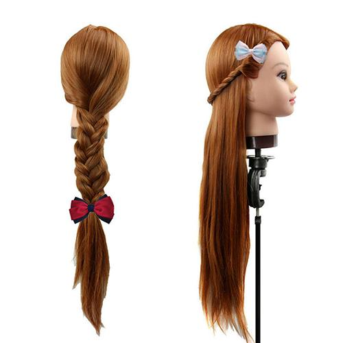 Salon Wig Woman Head Mannequin Hair Practice Dressing Braiding Training Tool Suitable for anyone to practice hair braiding, do h