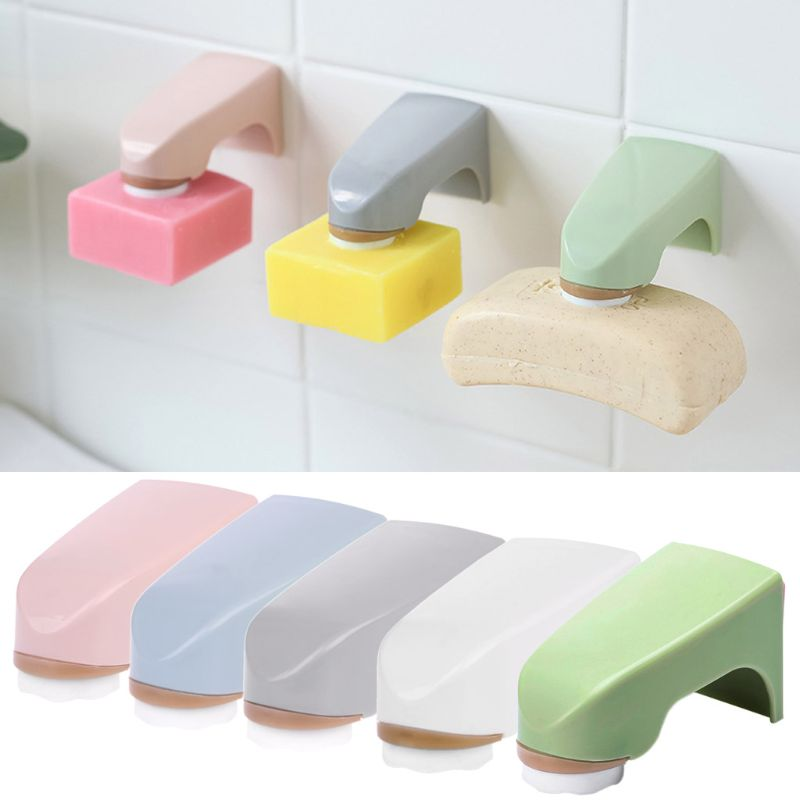 Magnet Soap Holder Wall Mounted Sticker Storage Rack Bathroom Organize Accessory D08F