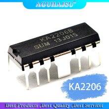 10 pces ka2206 ka2206b amplificador de áudio chip dip-12 original novo