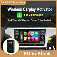 Carlinkit 2.0 adaptateur sans fil CarPlay pour VW 2016-2020 voiture d'origine avec CarPlay câblé à Dongle sans fil Auto Connect IOS 14