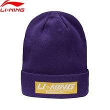 Li-ning unisexe la tendance tricoté chapeau chaud confort 22.5CM doublure Li Ning sport chapeaux casquettes AMZP036