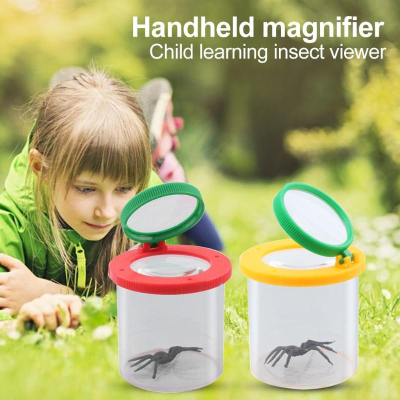 Portable Handheld High-Grade Optical 4X Magnifying Glass For Child Loupe Magnifier Children Toy Excellent ABS and Acrylic Lenses