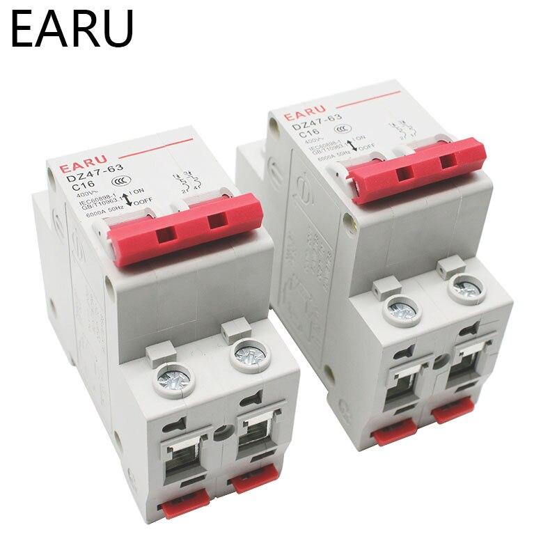 H3585998641d849ba8f6acae5ca403dc4a - C45N 2 Pole 3A/6A/10A/16A/20A/32A/40A/50A/63A 400V~ C Type Mini Circuit Breaker Mcb Mounting 35mm Din Rail Breaking Capacity 6KA