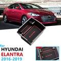 Автомобильный органайзер  аксессуары для hyundai Elantra 2016 2017 2018 2019 AD Avante Super Elantra  подлокотник  коробка для хранения