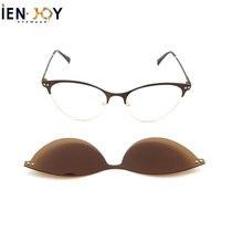 Ienjoy металлическая оправа магнитный зажим для очков женские